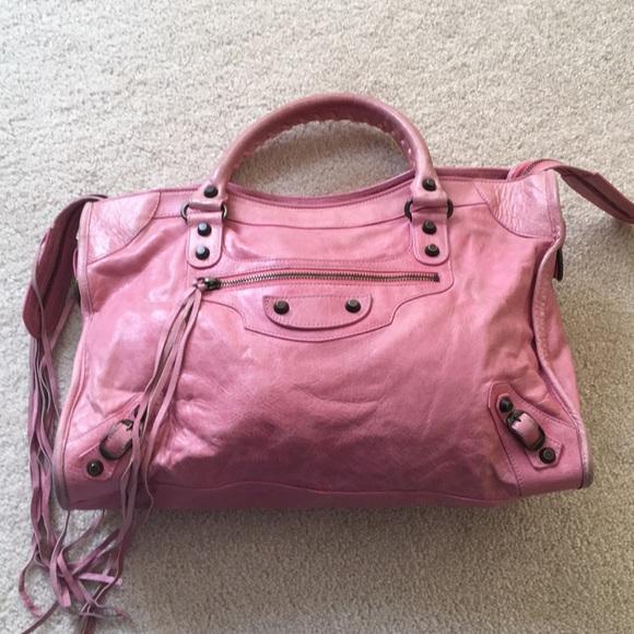 18ddc32d3cc5 Balenciaga Handbags - Balenciaga classic city bag in bubblegum